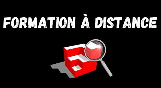formation a distance sketchup